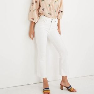 Madewell Cali Demi-Boot Crop in White Sz 29